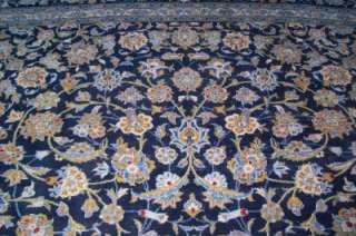 Nice Antique Blue Persian Tabriz Rug Signed 103 x 135