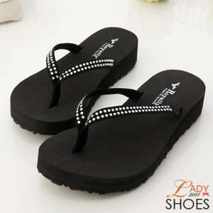 Womens Summer Flip Flop Thongs Sandals Black