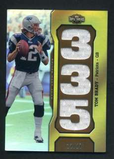 2011 Topps Triple Threads Tom Brady Game Used Jersey Number Relic 12