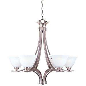 Hampton Bay 6 Light Hanging Antique Pewter Chandelier HD333573 at The