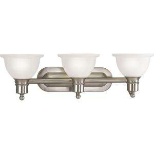 Lighting Madison Collection Brushed Nickel 3 light Vanity Fixture