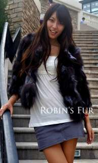 new customized feed silver fox fur womens warm winter coat jacket all