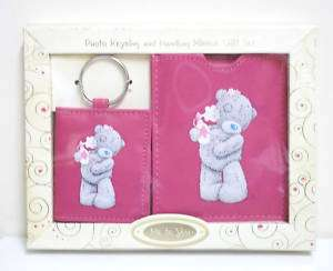 ME TO YOU TATTY TEDDY BEAR PHOTO KEYRING & HANDBAG MIRROR GIFT SET