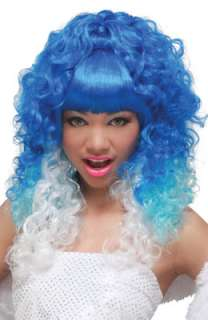 Rap Princess Costume Wig (Blue/White) for Halloween   Pure Costumes