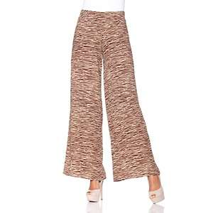 IMAN Global Chic Hollywood Glam Flowy Wide Leg Pull On Pant