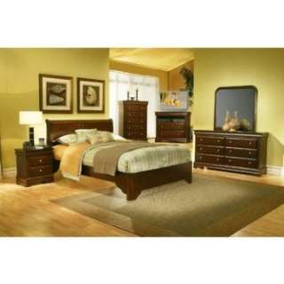 Full Low Profile Sleigh Bedroom Set in Cappuccino Furniture & Decor