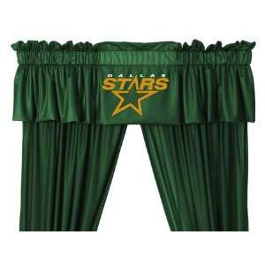 Stars   5pc Jersey Drapes Curtains and Valance Set