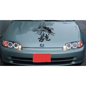 HONDA HOOD DECAL sticker FIT ANY CAR DRAGON