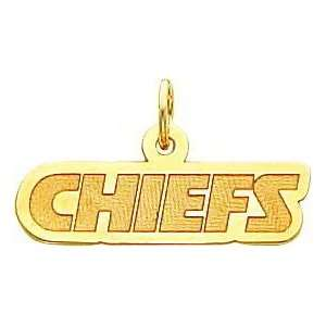 14K Gold NFL Kansas City Chiefs Charm