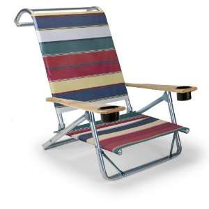 Folding Beach Arm Chair with Cup Holders, Spencer Patio, Lawn