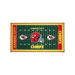 NFL Kansas City Chiefs XL Football Field Mat