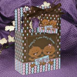 Girl African American   Classic Personalized Baby Shower Favor Boxes