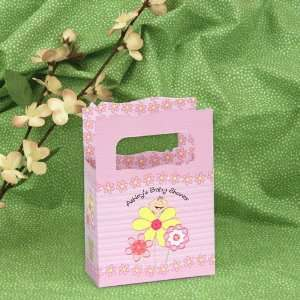 Girl is Blooming Caucasian   Mini Personalized Baby Shower Favor Boxes