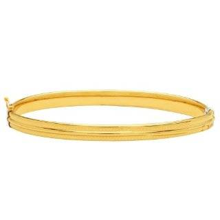 Sterling Silver and 14k Yellow Gold Twist Bangle Bracelet Jewelry