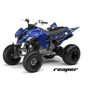 Yamaha Raptor 350 ATV Quad Graphic Kit   Reaper Blue Automotive