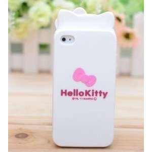 iPhone 4G Cute Hello Kitty Style Head Shape Series Soft Case/Cover