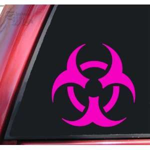 Biohazard Symbol Vinyl Decal Sticker   Hot Pink Automotive
