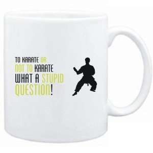Karate Or Not To Karate , What A Stupid Question   Mug Sports Home