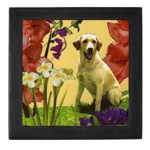 Yellow Lab Dog Keepsake Box by  Baby