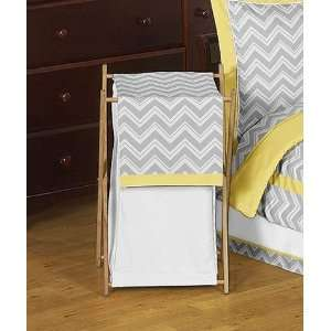 Baby/Kids Clothes Laundry Hamper for Yellow and Gray Zig Zag Bedding