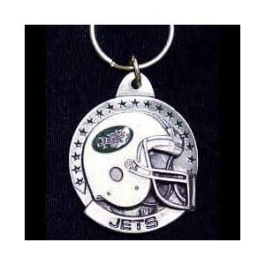 New York Jets NFL Pewter Helmet Key Ring Sports