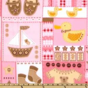 60 Wide Fleece Baby Girl Patches Pink Fabric By The Yard