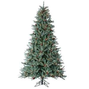com 7.5 Pre Lit New Blue Green Diamond Fir Artificial Christmas Tree
