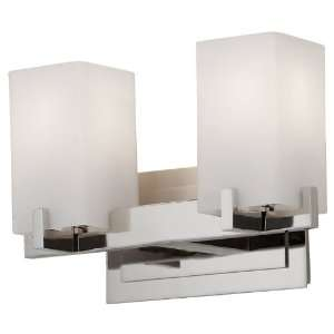 Riva Collection 2 Light 13 Polished Nickel Bathroom Vanity Light