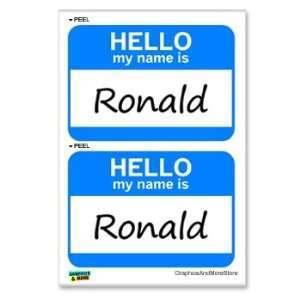 Hello My Name Is Ronald   Sheet of 2   Window Bumper Laptop Stickers