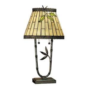 Dale Tiffany TT101004 Bamford Table Lamp, Dark Antique Bronze and Art