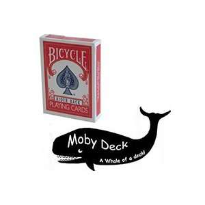 Moby Deck Red Cards Magic Tricks Bicycle Poker Close Up