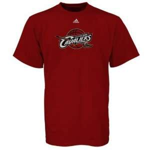 adidas Cleveland Cavaliers Red Youth Primary Logo T shirt