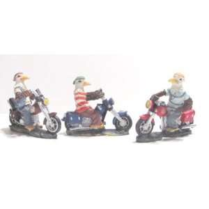 Lot of 12 American Eagles Riding on Motorcycles