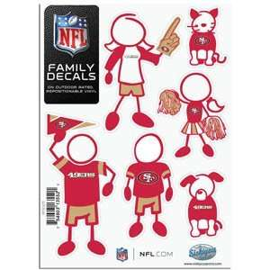 San Francisco 49ers 5in x 7in Family Car Decal Sheet