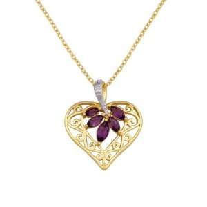 18k Yellow Gold Plated Sterling Silver Africa Amethyst and