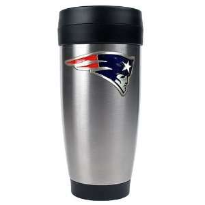 New England Patriots 16oz Stainless Steel Travel Tumbler (Primary Logo
