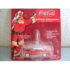 Johnny Lightning Coca Cola Holiday Ornaments 1958 Chevy