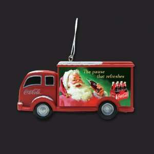 Club Pack of 12 Coca Cola Holiday Delivery Truck Christmas Ornaments 3