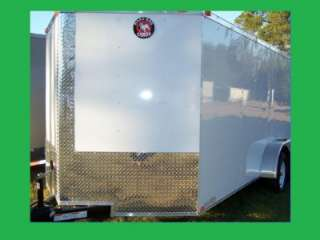 NEW 7X14 3500# TANDEM ROAD DOG TRADESMAN ENCLOSED CARGO OR MOTORCYCLE