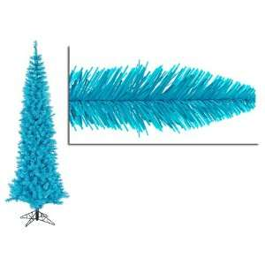 12 Pre Lit Sky Blue Ashley Spruce Pencil Christmas Tree   Blue Lights