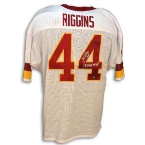 John Riggins Redskins Throwback White Jersey Inscribed SB XVII MVP