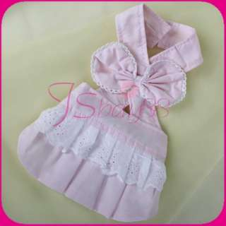 SMALL Pet DOG PUPPY DRESS CLOTHES Apron Apparel new S
