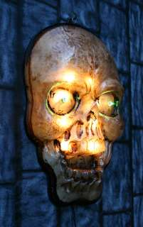 Lighted Indoor/Outdoor SKULL Halloween Light Decoration Prop