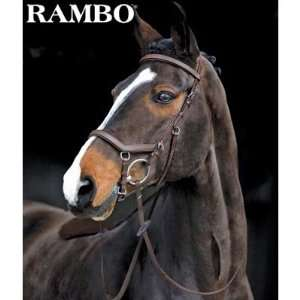 Competition Bridle w/Rubber Reins Tobacco, Horse
