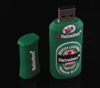 8GB Mini Beer Bottle Shape USB 2.0 Flash Memory Drive