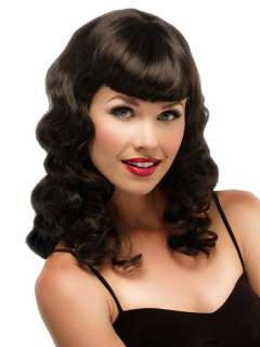Up   Jon Renau Rockabilly Costume Wig Bettie Page Model Retro